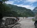 Strada verso la diga in Val Verzasca
