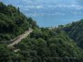 Lago Maggiore visto dalla diga della Val Verzasca