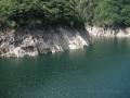 Lago della diga in Val Verzasca