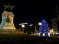 Milano monumento a garibaldi e albero di Natele