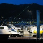 Motoscafi nel porto della città di Como