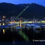 Riflesso della funicolare nel porto di Como