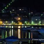 Riflessi della passeggiata nel lago di Como