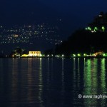 Riflesso di villa Geno nelle acque del lago di Como