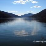 Lago di Lugano visto dalla passeggiata di Melide