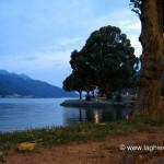 Passeggiata di Melide al tramonto
