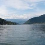 Panoramica di lago e monti da Porto Ceresio