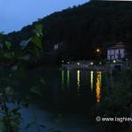 Riflesso delle luci dal lungolago di Porto Ceresio