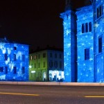 Duomo di Como e teatro sociale illuminati per Natale