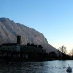Chiesa di Maroggia vista dal pontile