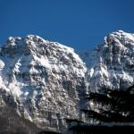 Monte Generoso innevato visto da Maroggia