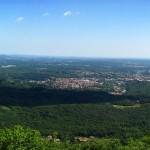 Panorama dal piazzale delle tre croci del Sacro Monte di Varese