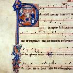 Museo Baroffio - Samaritana al pozzo - miniatura fine XIII secolo